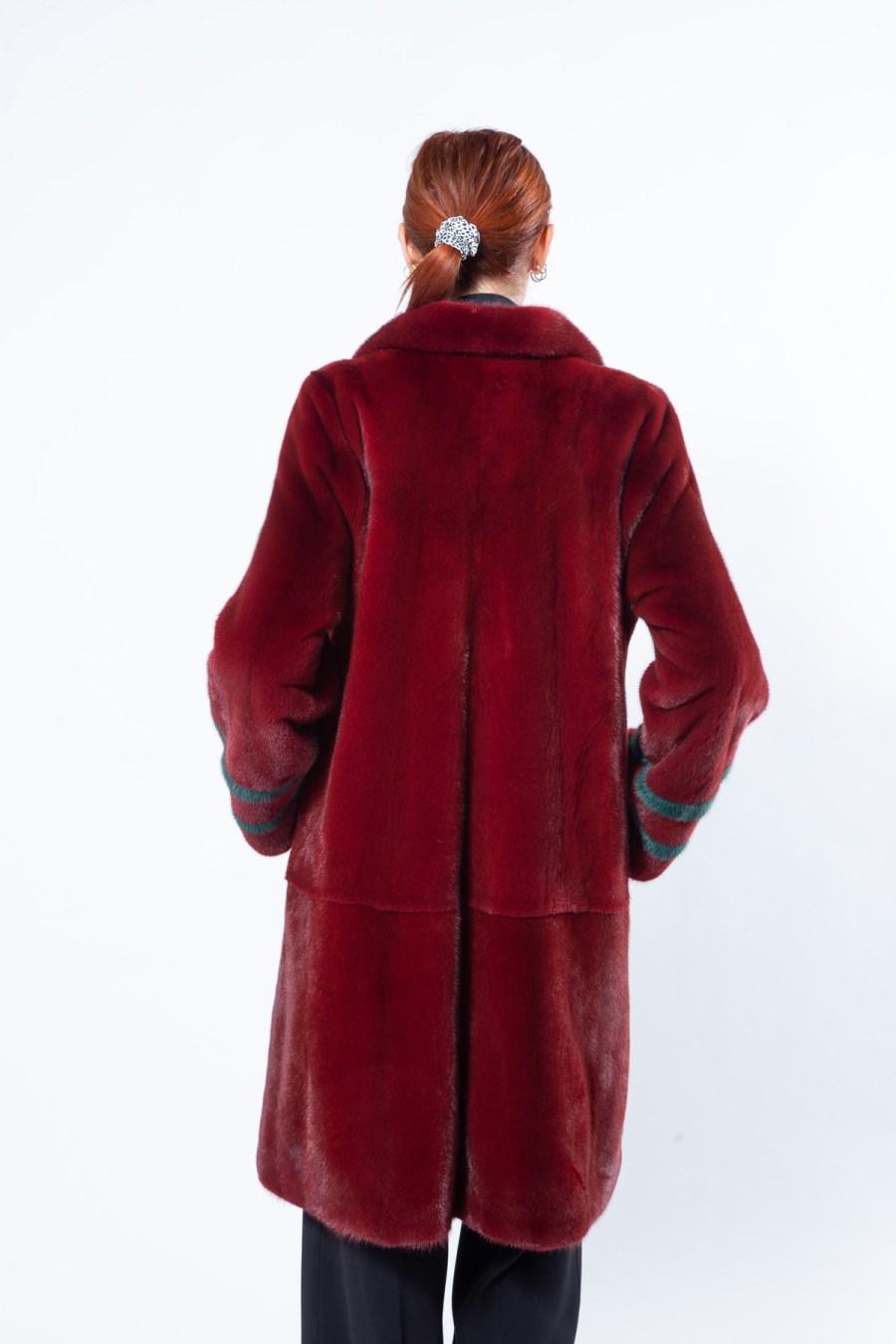 Passion Red Mink Coat with english collar   Sarigianni Furs