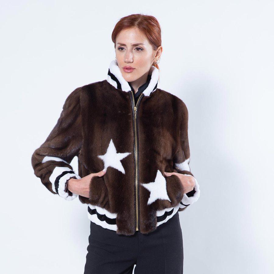 Demi-Buff Mink Jacket | Пальто из меха норки цвета Demi-Buff - Sarigianni Furs