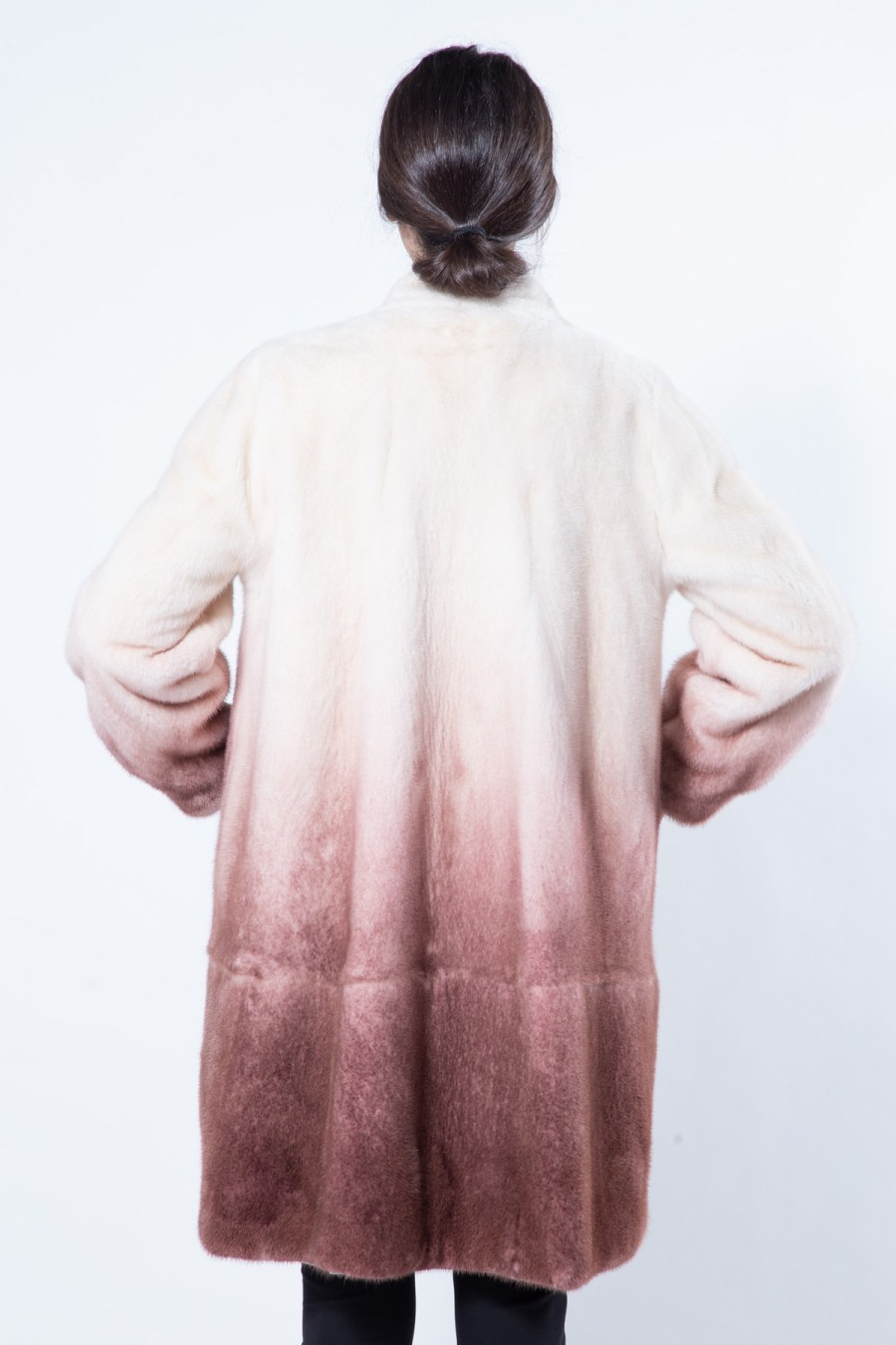 Bordeaux Degrade Mink Jacket | Sarigianni Furs