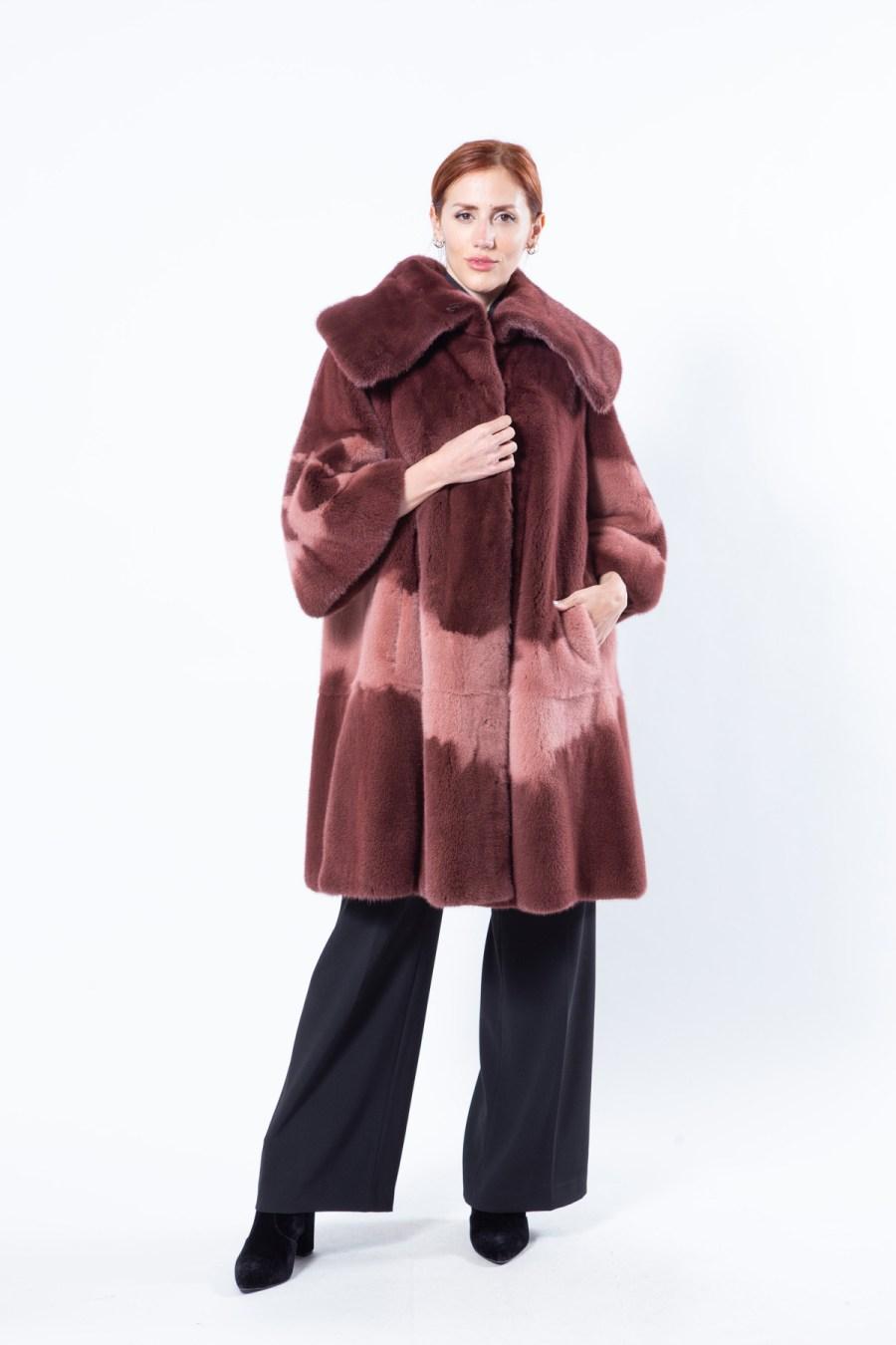 Purple Mink Jacket with short sleeves | Sarigianni Furs