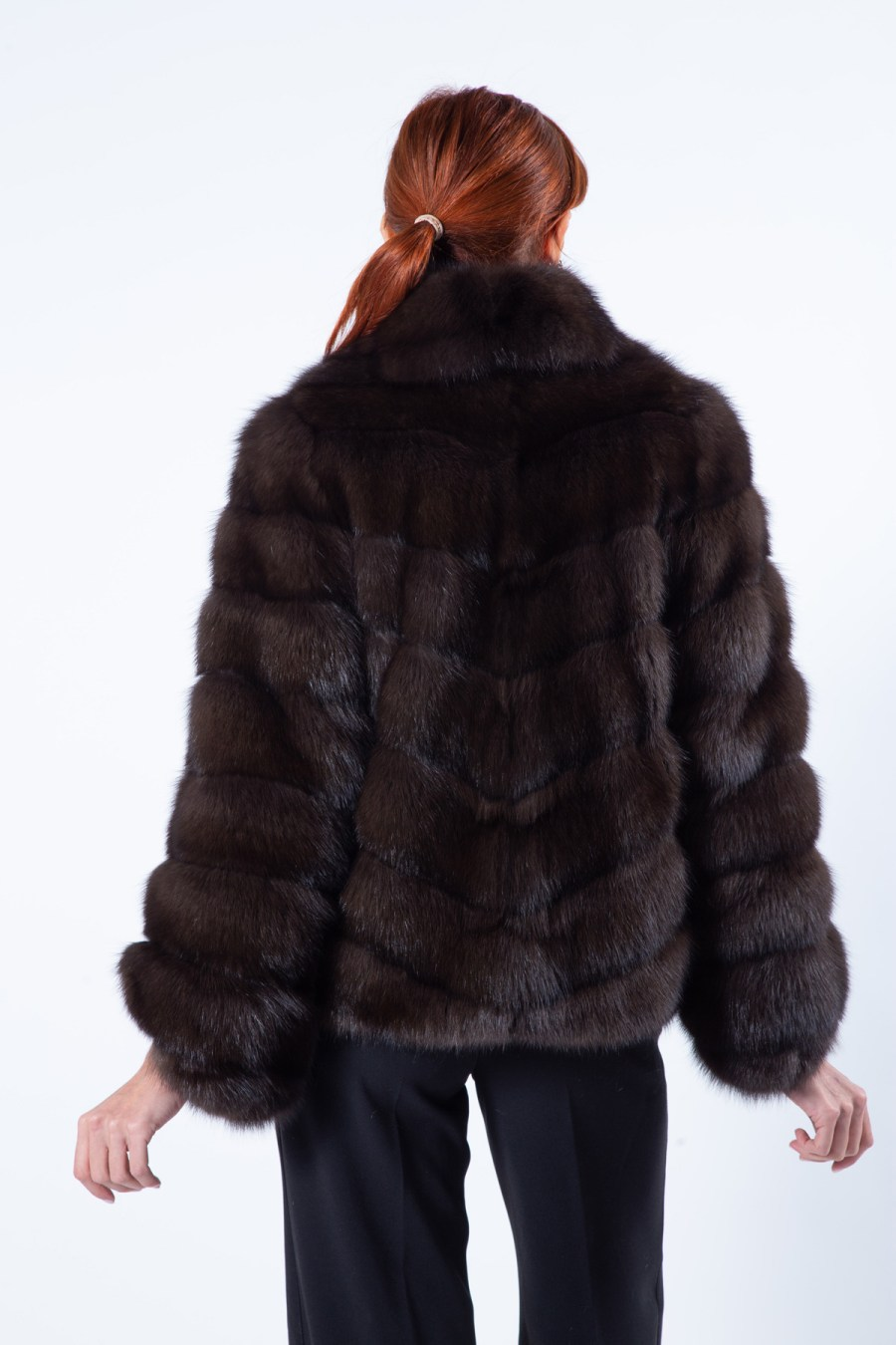 Dark Sable Fur Jacket | Sarigianni Furs