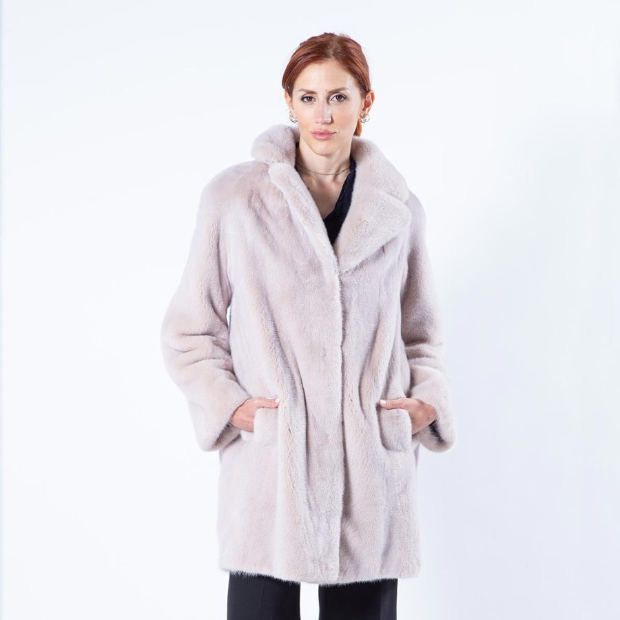 Ivory Mink Fur Jacket | Sarigianni Furs