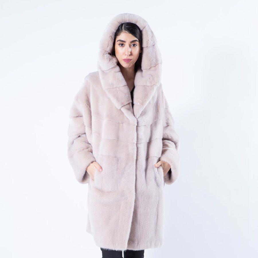 Ivory Mink Fur Jacket - Sarigianni Furs