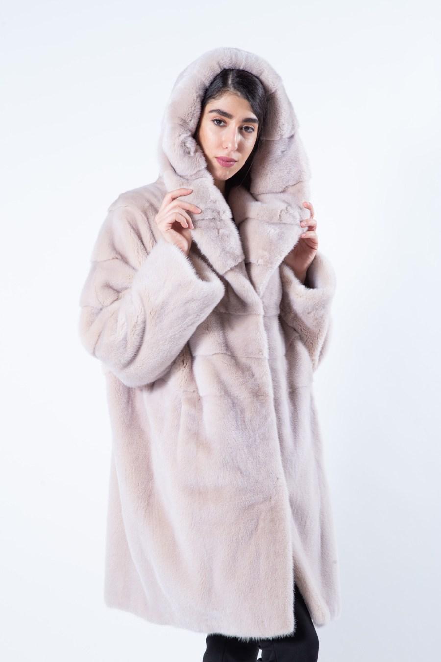 Ivory Mink Fur Jacket | Пальто из меха норки цвета «слоновая кость» - Sarigianni Furs
