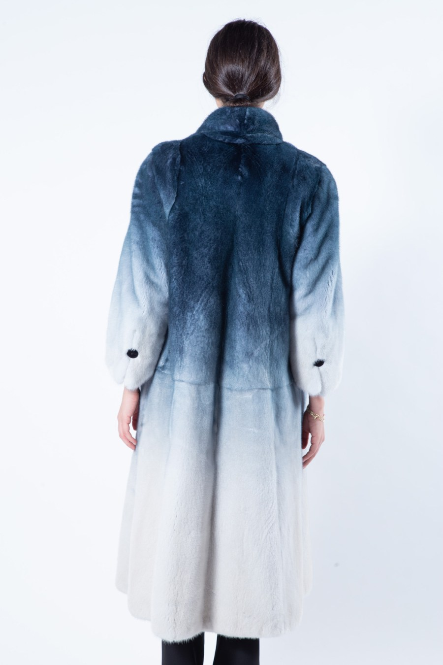 Blue Degrade Mink Coat | Sarigianni Furs