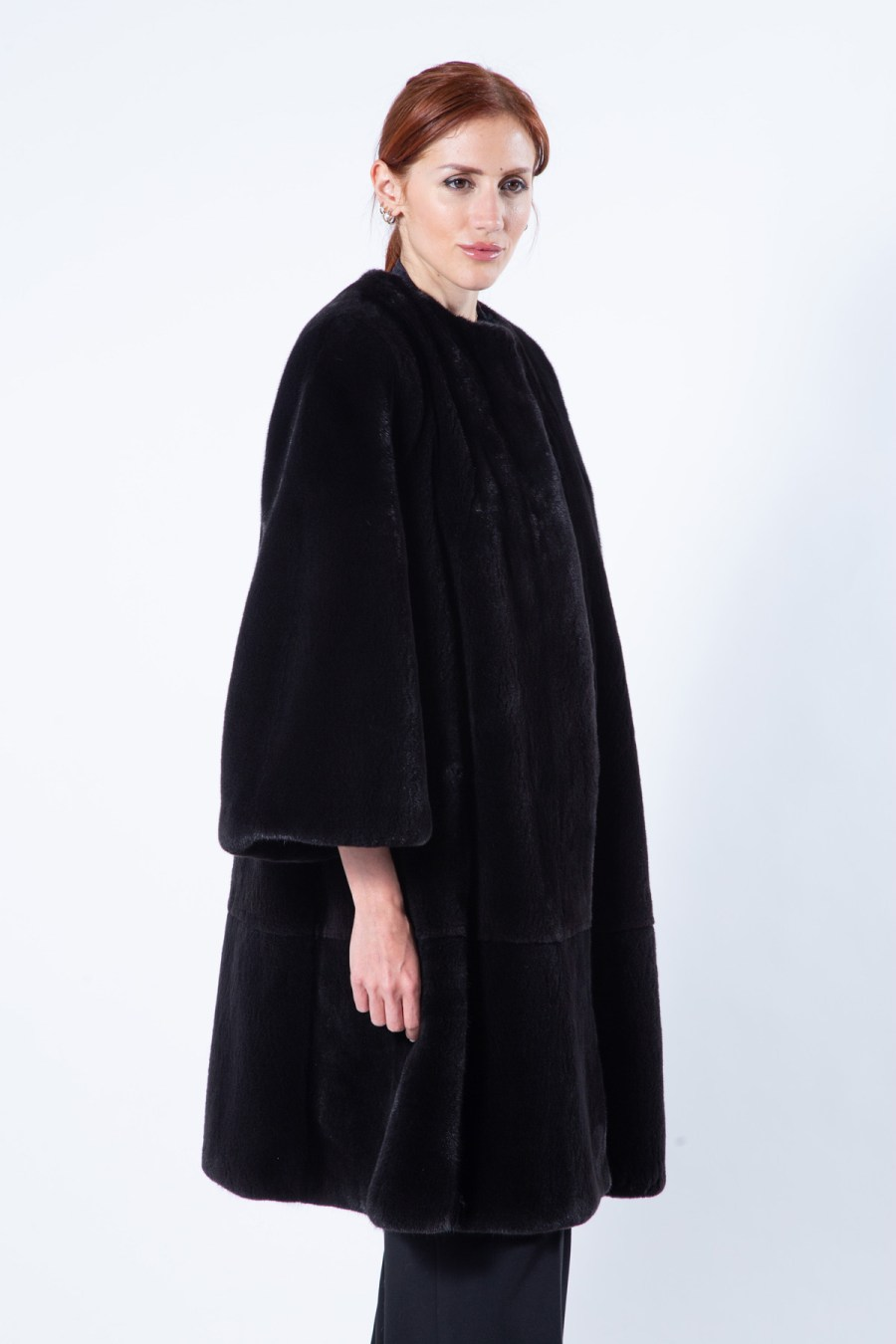 Blackglama Mink Coat with chanel collar | Шуба из норки Blackglama с воротником шанель - Sarigianni Furs