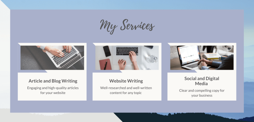 Freelance content writing services