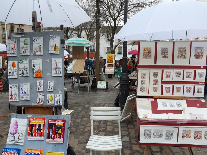 Art Gallery in Monmatre village, paris