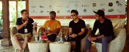 Bayu Amus saat menjadi narasumber di Ubud Food Festival