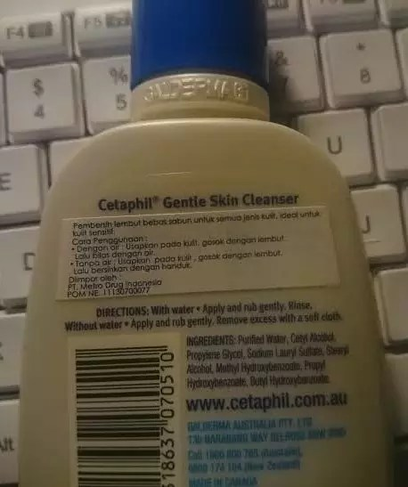 #Cetaphil backside by Sari Novita