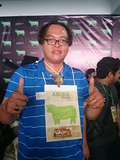 Julhan Pemenang pertama wagyu eating competetion