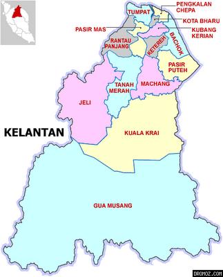 Peta negeri Kelantan  saripediacom