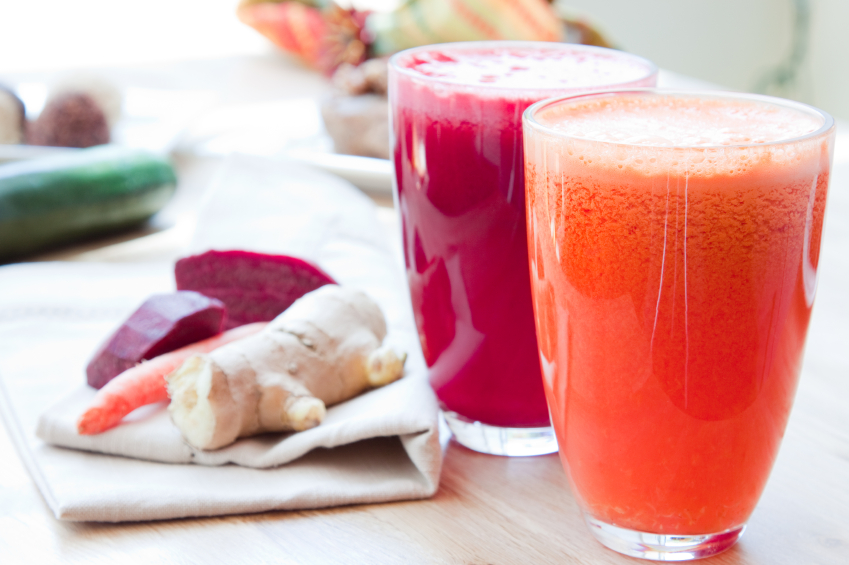 Juice Glasses - Beet, Apple, Carrot, Ginger and Orange, Apple, P