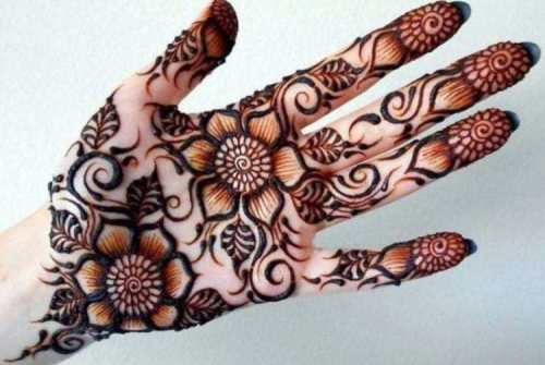 Gambar Henna Tangan Yang Simple