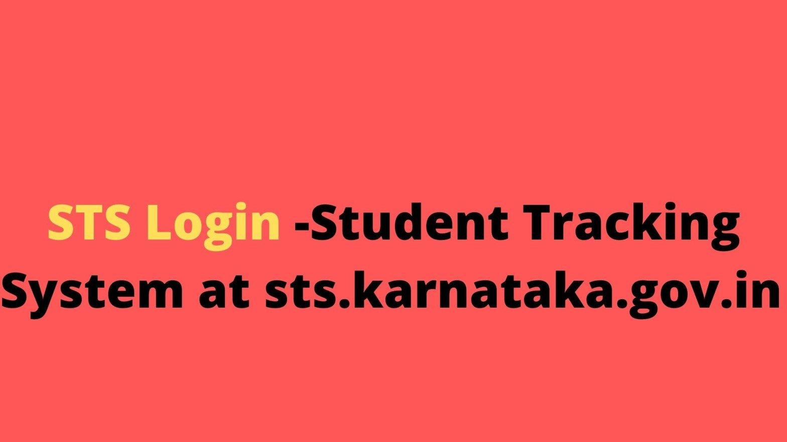 STS Login -Student Tracking System at sts.karnataka.gov.in