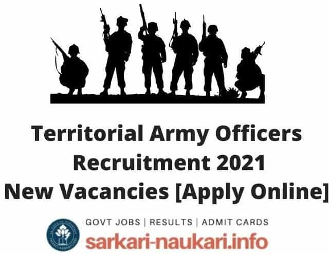 Join Territorial Army Officers Recruitment 2021