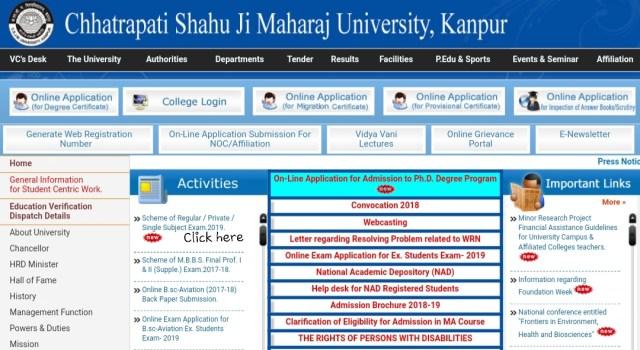 CSJM Kanpur University Scheme 2