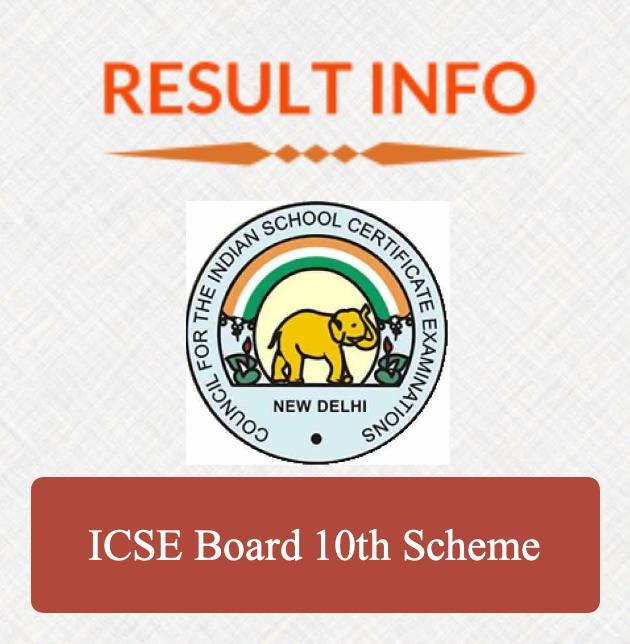 ICSE Board 10th Scheme
