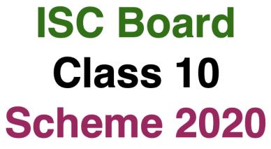 ISC Class 10 Scheme