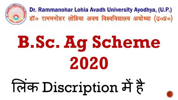 RMLAU B.Sc. Ag Scheme 2020