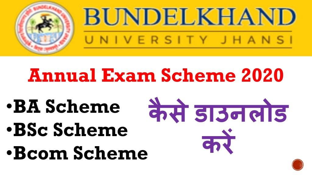 BU Jhansi Annual Exam Scheme