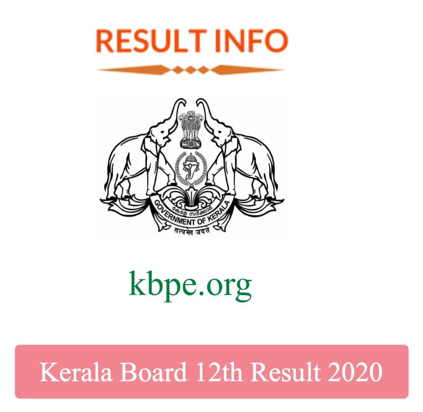 Kerala Board 12th Result 2020