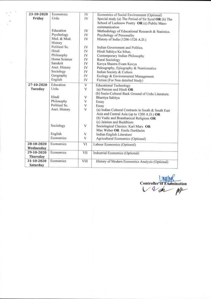RMLAU MA Scheme