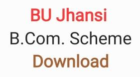 BU Jhansi BCom Scheme