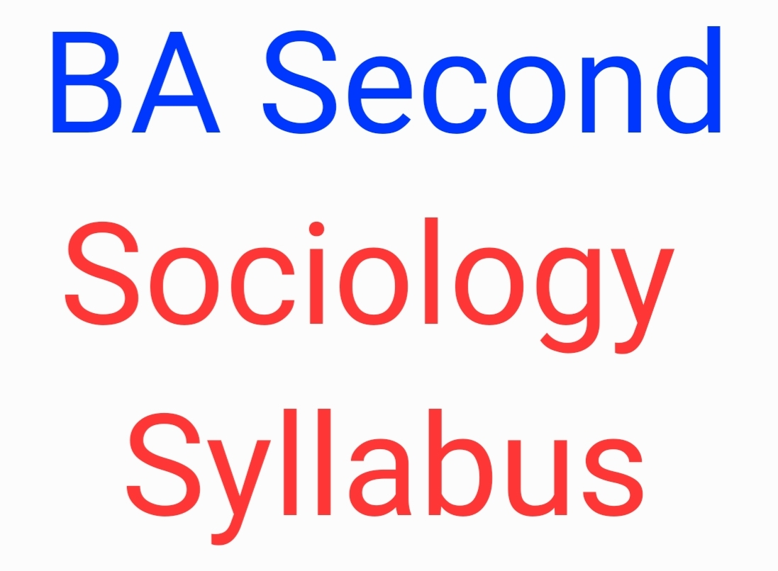 CSJMU BA Second Sociology Syllabus