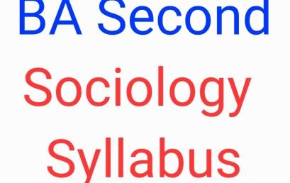 CSJMU BA Second Sociology Syllabus