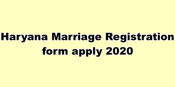 Haryana Marriage Registration