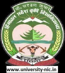 CSK-Himachal Pradesh Krishi Vishvavidyalaya (CSKHPKV) Recruitment 2019