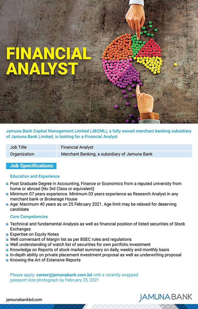 Job Circular At Jamuna Bank