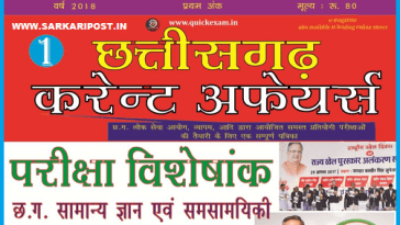 Chhattisgarh Current Affairs 2018