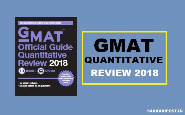 GMAT Quantitative Review 2018 Pdf