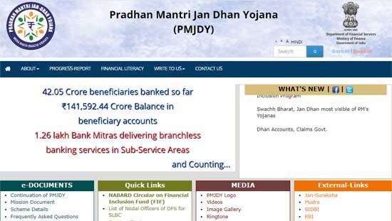 Pradhan-Mantri-Jan-Dhan-Yojana-(PMJDY)-Official-Website