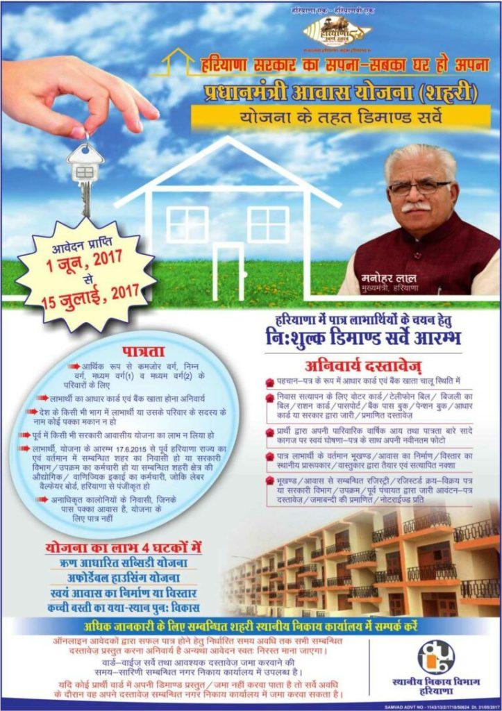 PMAY Demand Survey Haryana