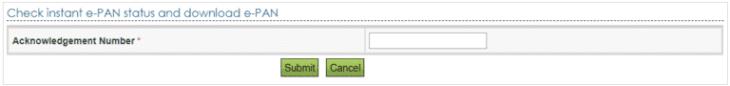 Check Status Download Instant e-PAN