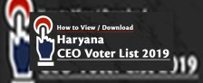Haryana CEO Voter List 2019