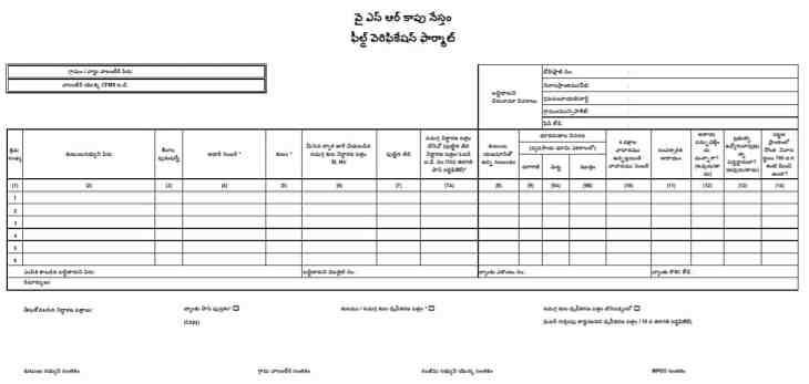 AP YSR Kapu Nestham Application Form PDF