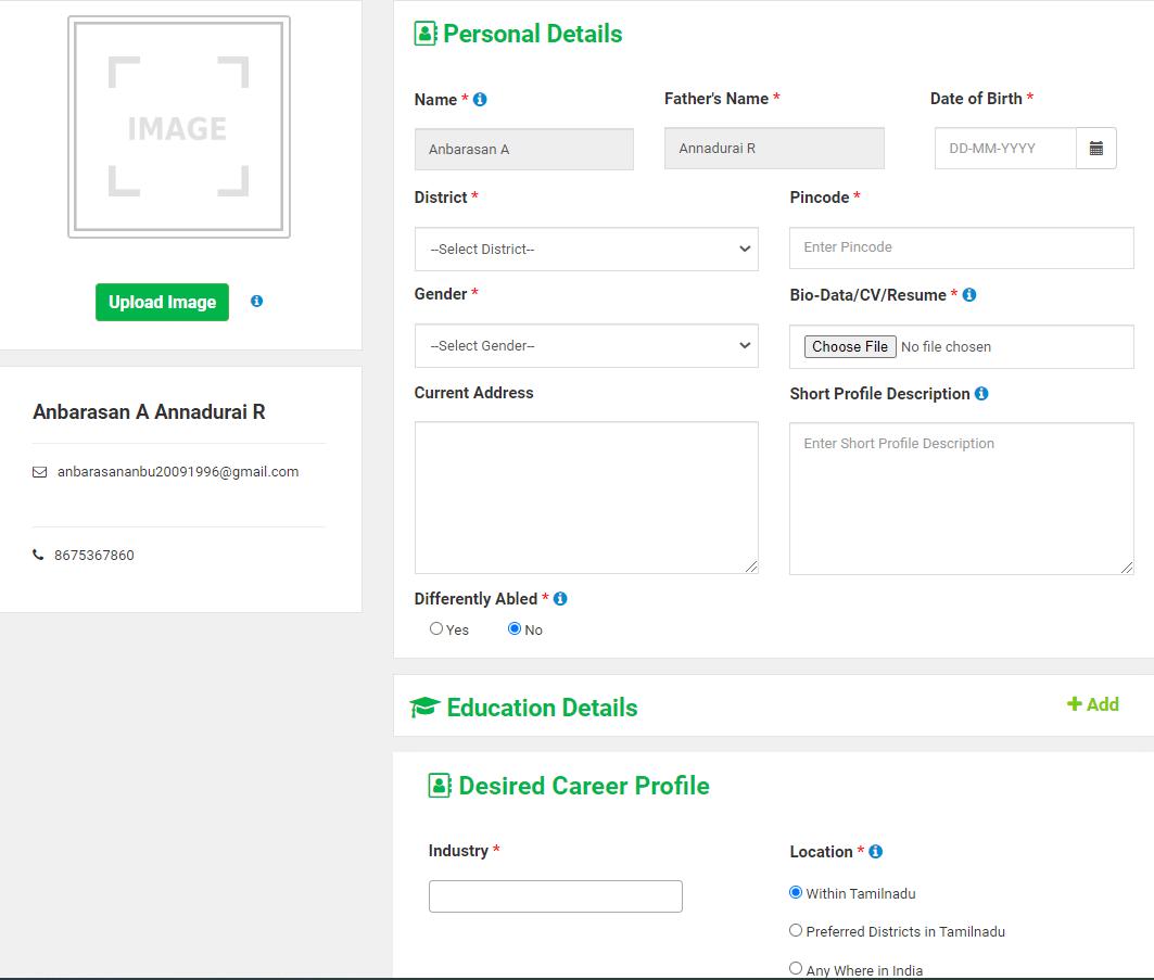 tnprivatejobs.tn.gov Online Application Form