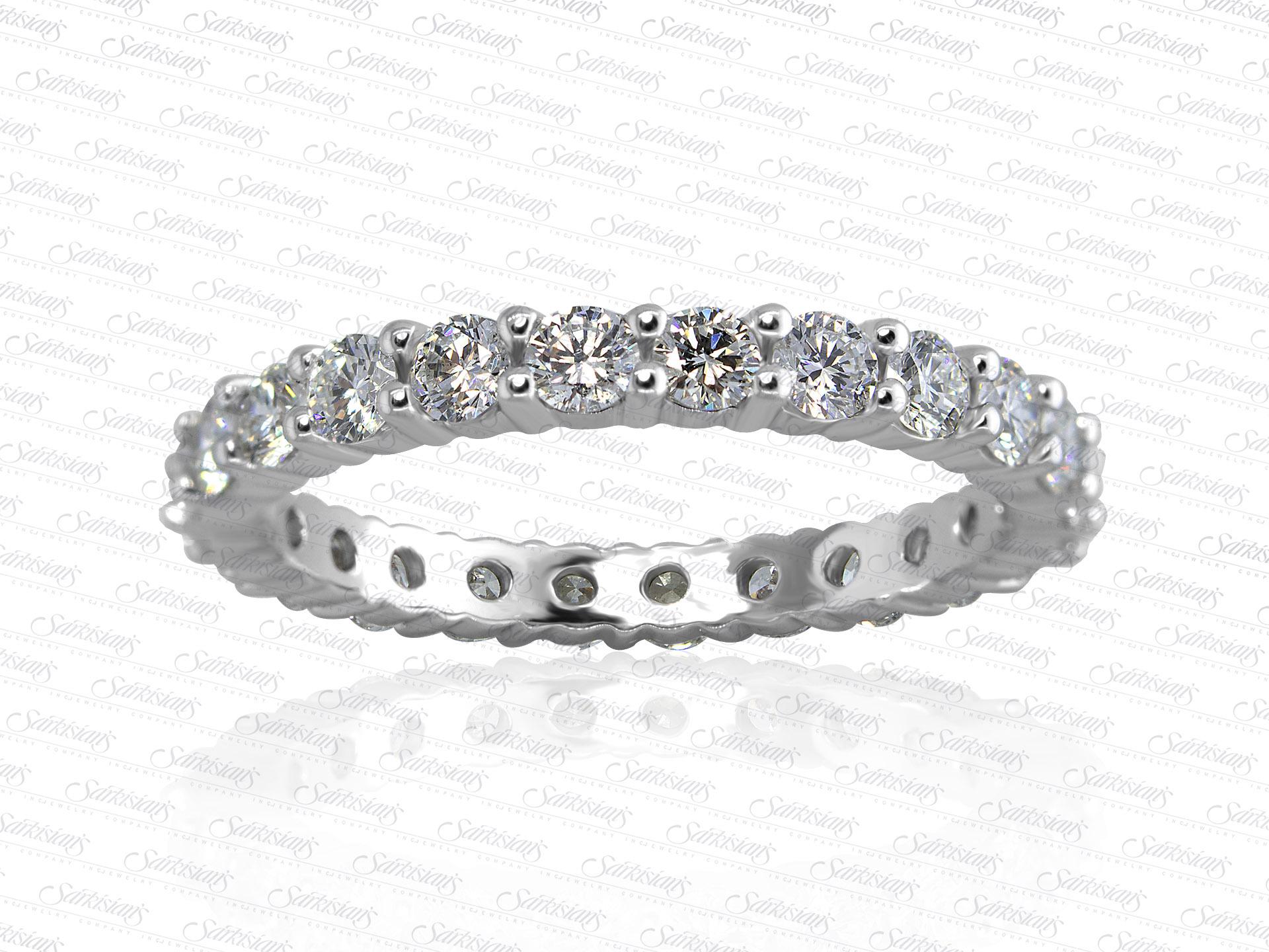 Diamond Eternity Ring 1 20 Carats Gold Or Platinum