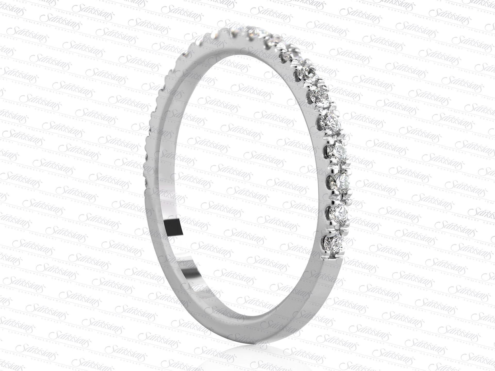 Wedding Anniversary Diamond Ring 0 26 Carats, White Gold or
