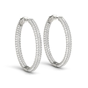 DIamond Hoop Earrings Rose GOld ER41022Y.-5-6