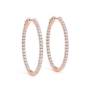 Diamond Hoop Earrings Rose Gold ER41012R