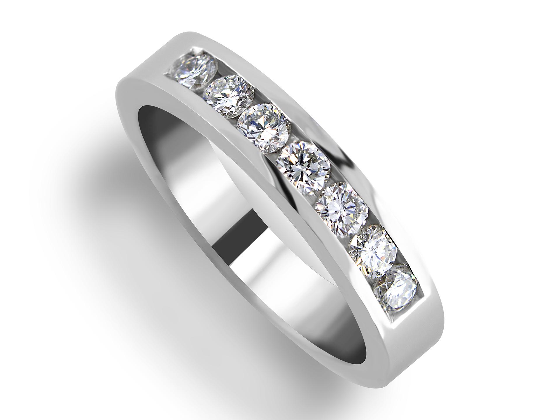 Diamonds channel set ladies wedding anniversary ring
