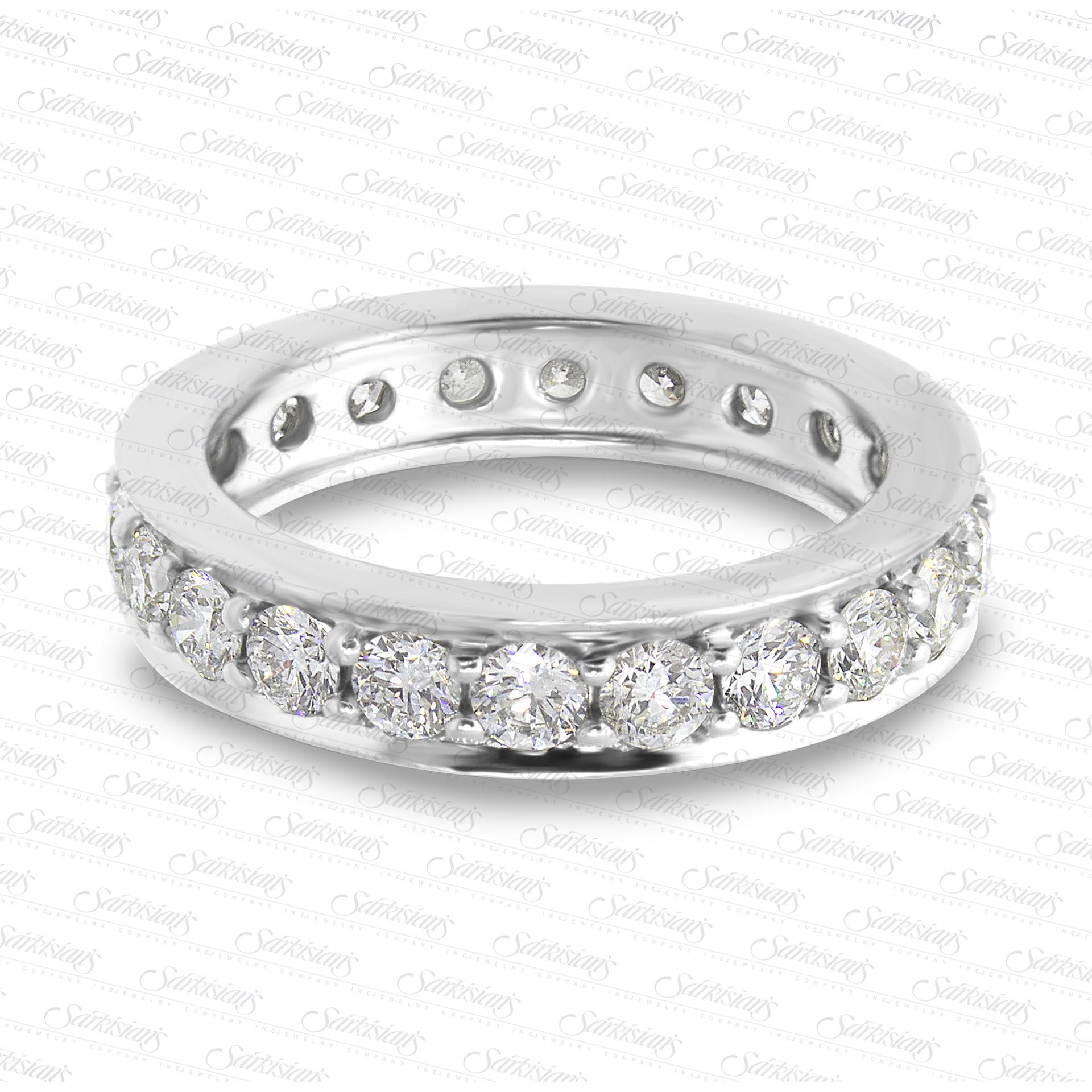 1.77 Carat Diamonds Pave Eternity Ring LR8045 - Sarkisians Jewelry 8fc32d0e98