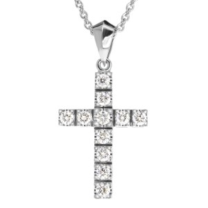 Diamond cross pendant Pn544-5