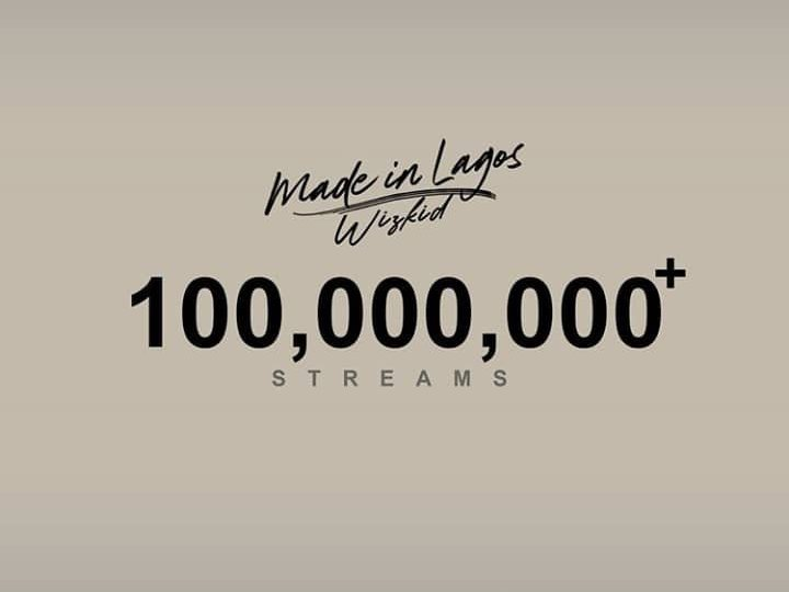 Wizkid's Made In Lagos Album Hits 100 Million Streams In Just 9 Days (Check)