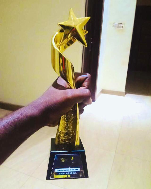Mani Mandela Wins Afropop Artiste of the Year 2021 -Ghana Music Icons Awards.